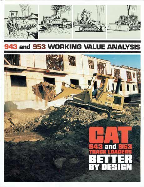 Caterpillar 943 & 953 Track Loaders Brochure