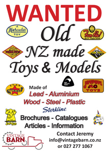 Wanted New Zealand Toys & Models | Vintage Barn