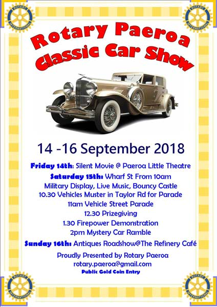 Upcoming Events Paeroa Classic Car Show Vintage Barn - Antique and classic car show